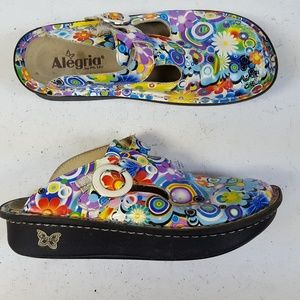 ALEGRIA Donna Hippie Chick Slides Clogs